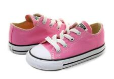 New Converse Chuck Taylor All Star Infants Canvas Shoes UK 9 Pink sneakers