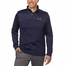 Under Armour Mens Pullover Midnight Navy Blue Storm Fleece Icon 1/4 Zip