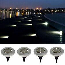 Solar Powered Ground Light Outdoor Waterproof Garden Pathway Lights with 8 LEDs