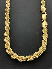 .925 Sterling Silver Yellow Gold Plated Rope Chain- MANY variations!