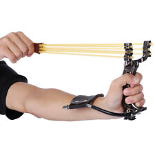 Powerful Hunting Slingshot With Rubber Band Tubing PU Leather Catapult