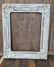 Victorian Shabby Chic Picture Frame, Wood picture frame,custom frames, gold leaf