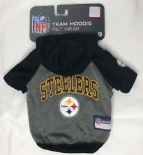 NEW NFL Pet Wear Pittsburgh Steelers Team Hoodie Dog T-Shirt Size S M