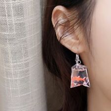Funny Goldfish Water Bag Shaped Dangle Earrings Resin Earrings Eardrop