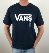 100% AUTHENTIC MENS VANS OFF THE WALL ORIGINAL TEE  SIZE S, M, OR L BLUE