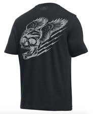 Under Armour Men's UA HeatGear No Excuses skull Loose Fit Graphic T Shirt - NWT