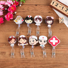 Retractable Badge Reel Nurse Exihibiton ID Name Card Badge Holder DIY Supplie