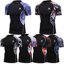 Mens Compression Base Layers Tights Fitness Sports Workout Shirts Cycling Jersey