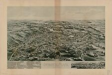 Poster Print Antique American Cities Towns States Map Ipswich Mass