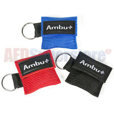 BLACK Ambu Res-Cue Key MINI CPR Keychain Mask / Face Shield Barrier Kit
