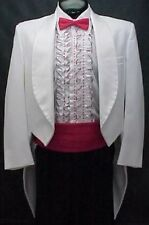 LORD WEST WHITE TAIL TUX JACKET or 4pc  MENS or BOYS TAIL TUXEDO PROM WEDDING