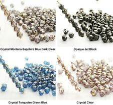 50pcs Gold Rain Spotted Bicone Faceted Fire Polished Czech Glass Beads 4mm