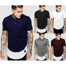 Mens Stylish Slim Fit Short Sleeve Crew Neck Shirts Muscle Tee Shirt Casual Tops