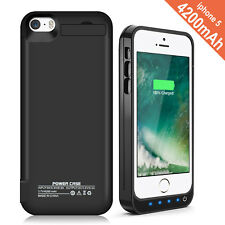 Certified 4200mAh External power bank backup battery case for iPhone 5S 5C SE