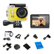 """1080P Action Camera 2""""Screen 120°View Angle Sports Cam30M Waterproof Case"""