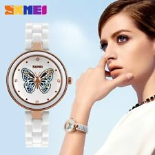 Women Wrist Watch Butterfly Hollow Out Ceramic Strap Quartz Wrist Watches RB