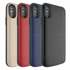 For iPhone X Rechargeable Battery Case Power External Charger Cover Portable