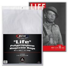 BCW Comic Life Magazine Bags And/Or Boards (100 or 500)