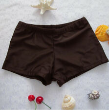 Women Swim Shorts Bottoms Summer Plain Bikini Swimwear Boy Style Short Brief USA