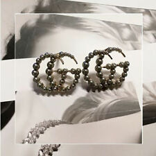 NEW Fashion big GG pearl earrings women big tassel dangle earring jewelry GG
