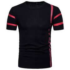 Mens Clothing Short Sleeve Crew Neck T-Shirt Print Fitted Shirt Tops Size M-2XL