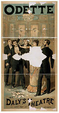 Photo Print Vintage Poster: Stage Theatre Flyer Odette At Dalys Theatre 01
