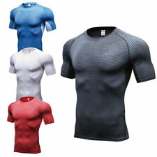 Mens Sports Compression Workout T Shirt Basketball Jersey Cycling Tights Spandex