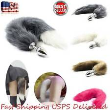 Fox Faux Stainless Steel Tail Plug Butt Tail Stopper Anal Insert Gifts US Stock