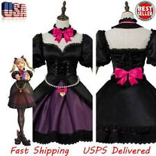 Cosplay Overwatch DVA D.VA Song Hana Costume Black Cat Puss Maid Suit Dress Wig