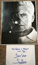 David Dave Prowse Hand Signed Card  Darth Vader Star Wars Actor Film 10x8 Photo