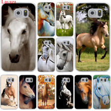 For Samsung Galaxy S8 S9 Plus S7 S6 Edge Horse Rainbow Hard lovely Case Cover