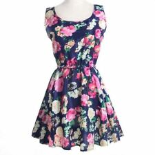 Women Chiffon Material Floral Print Ruffle Stylish Casual Mini Dress