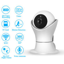 Panoramic Home Security Network IP Wifi Camera Wireless Smart Cam 1080P HD 360°