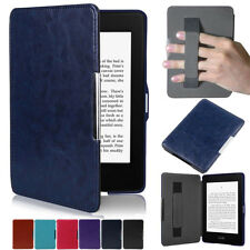 for Kindle Paperwhite Sleep/Wake Function PU Leather Case Cover With Hand Strap