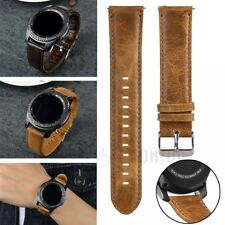 Vintage Black Brown 20mm 22mm Ring Buckle PU Leather Watch Strap Band Watchband