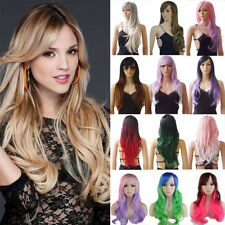 Fashion Wavy Curly Wig Heat Resistant Synthetic Hair Women Ombre Full Wigs Fvhd2