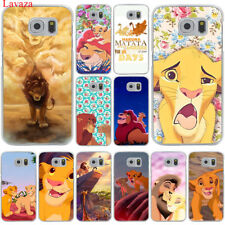 Lion print animal Hard skin Case Cover for Galaxy Samsung S6 S7 Edge S8 S9 Plus