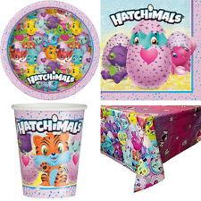 HATCHIMAL SET PARTY TABLE WARE SET - Kids Birthday Plate Cup Napkins Dispose