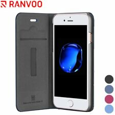 Shockproof PU Leather Card Bag For iPhone 7 Plus 8 Plus Case Protective Cover