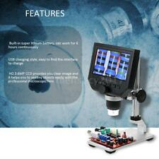"""Zoom 1X-600X 4.3"""" LCD Digital Microscope W/ Mental Stage For Phone Repairing TR"""