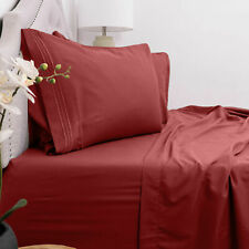 Egyptian Luxury Comfort 1800 Count 4 Piece Deep Pocket Bed Sheet Set Red