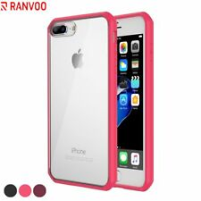 For iPhone 7 Plus 8 Plus Case Clear Slim Fit Hybrid Back Shockproof TPU Bumper