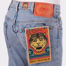 GUCCI 920$ Limited Coco Capitan Collaboration Embroidered Tapered Jeans