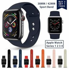 Replacement Silicone Sports Band Strap for Apple Watch iWatch 4/3/2/1 38mm/42mm