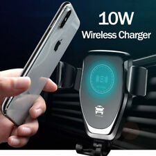 Car Mount Qi Wireless Charger Fast Charging Mount Holder For Samsung iPhone 8 X
