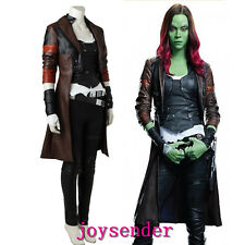 Marvel Guardians of the Galaxy Ⅱ Gamora Costume Cosplay Set Halloween Party NEW