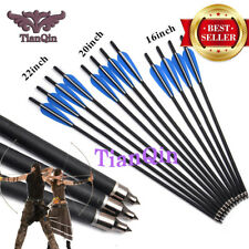 Hunting Crossbow Bolt 6pcs Target 16/20/22 Inches Carbon Arrow with 125 Grain