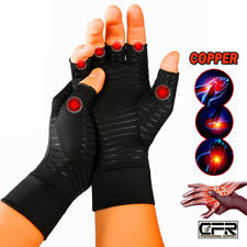 Copper Compression Arthritis Gloves Rheumatoid Hands Joints Support Sleeves OS