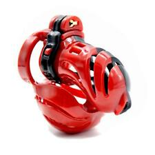New 3D Red Black Male Chastity Belt Resin Chastity Device Lightweight Bondage