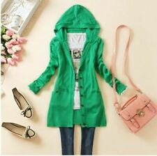 New Arrival Spring Style Solid Color Hooded Cardigans Knitwear Women Sweater